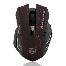 New USB Gaming 2.4Ghz Wireless Mouse Silent Click Button computer mouse for laptop gamer mice Free Shipping(China)