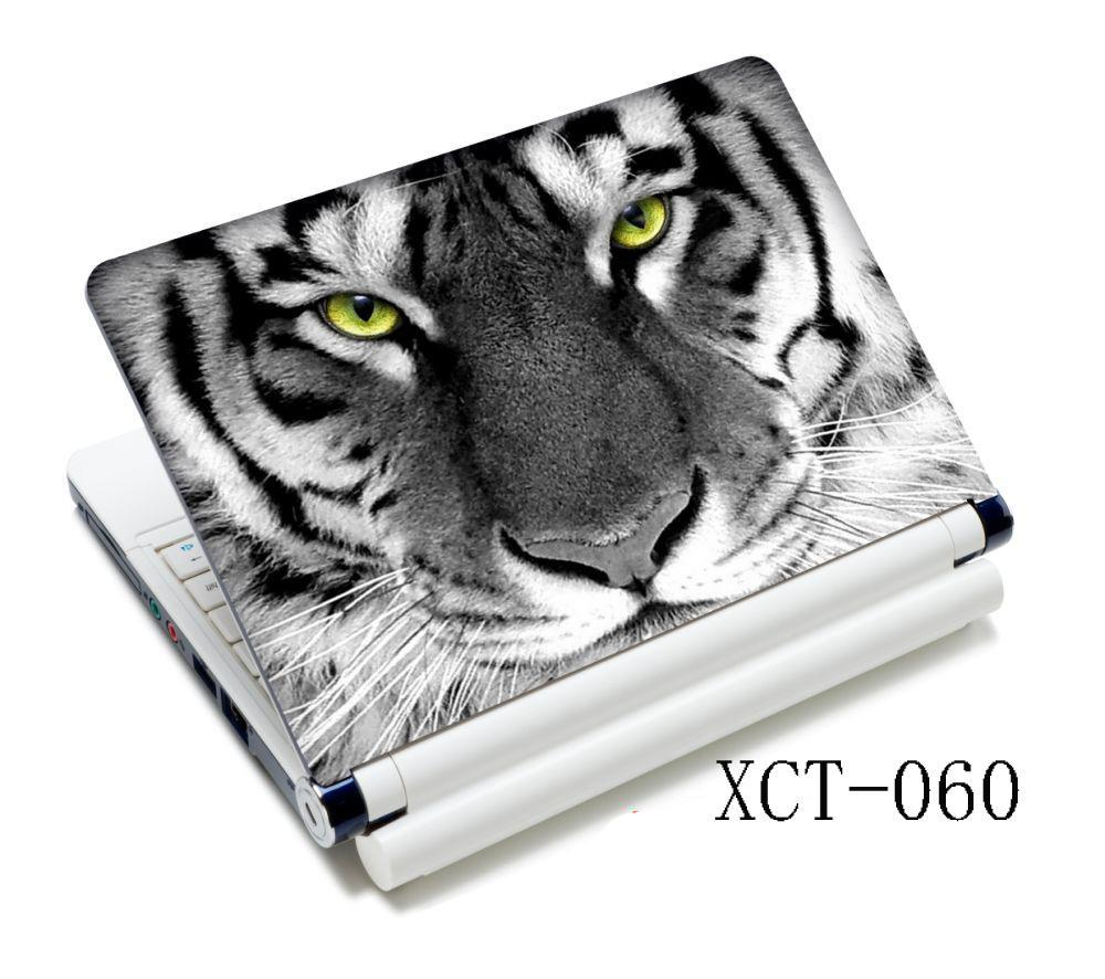 White Tiger Face Stylish Laptop Skin Sticker Cover Art Decal For 13.3 14 15 15.4 15.6