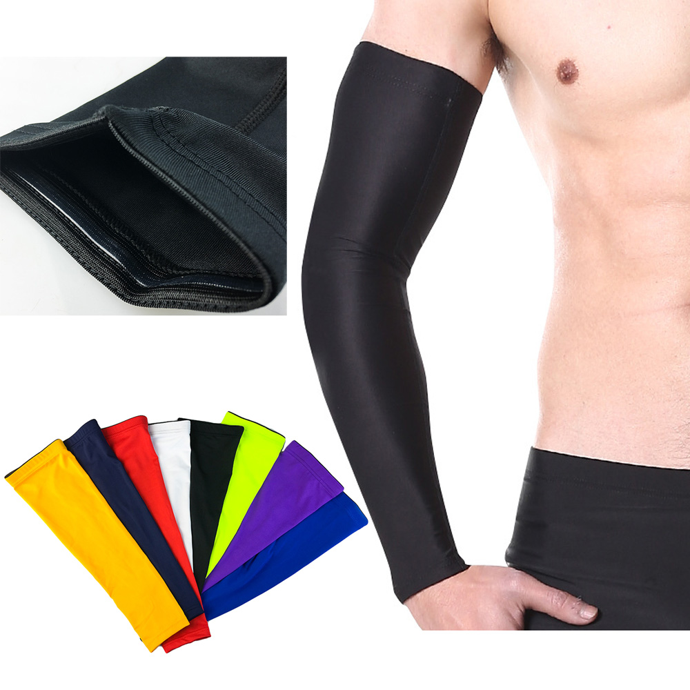 Solid Arm Sleeve Basketball Running Sports UV Sun Protection Protective Gear LFSPR0001