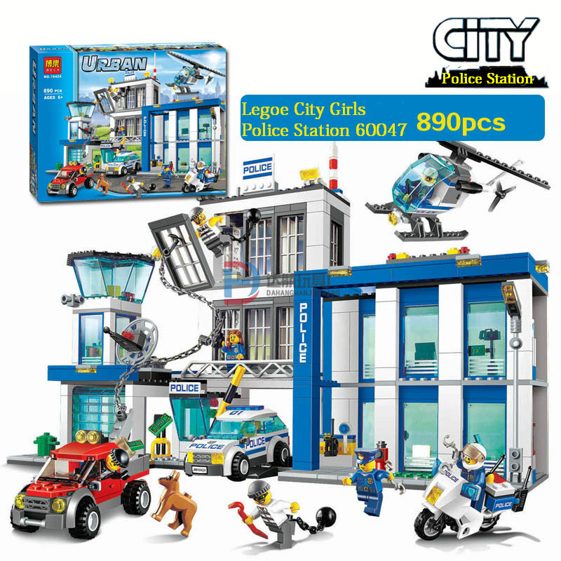 2016 BELA 10424 Compatible Legoe City Mini Police Station 60047 Figure Building Blocks Bricks Emma Mia Figure Toys For Children