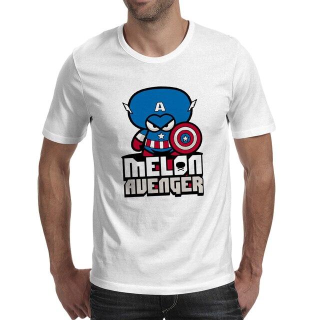 Melone Kopf Kapitän T shirt Design Cool Fashion T shirt Neuheit ...