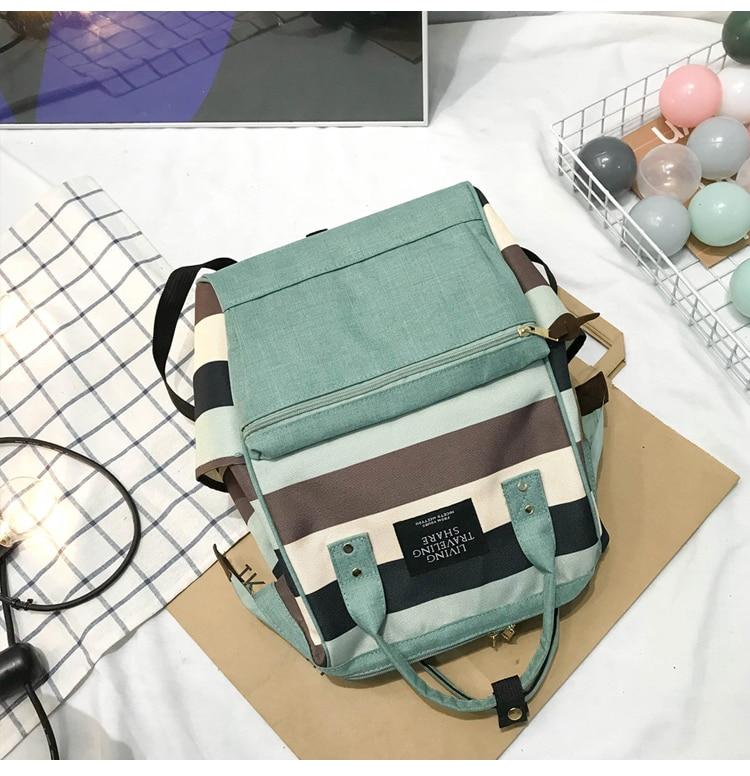 HTB1Xz3hUhjaK1RjSZFAq6zdLFXa5 2019 Korean Style Women Backpack Canvas Travel Bag Mini Shoulder Bag For Teenage Girl School Bag Bagpack Rucksack Knapsack