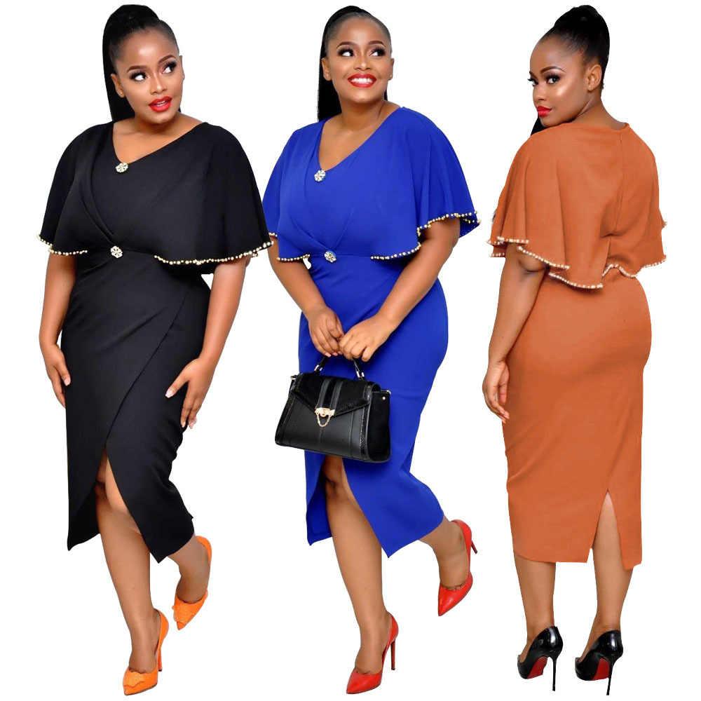 2019 neue mode Afrikanische Druck Elastische Bazin Rock Stil Dashiki volle Hülse Berühmte nahen kleider
