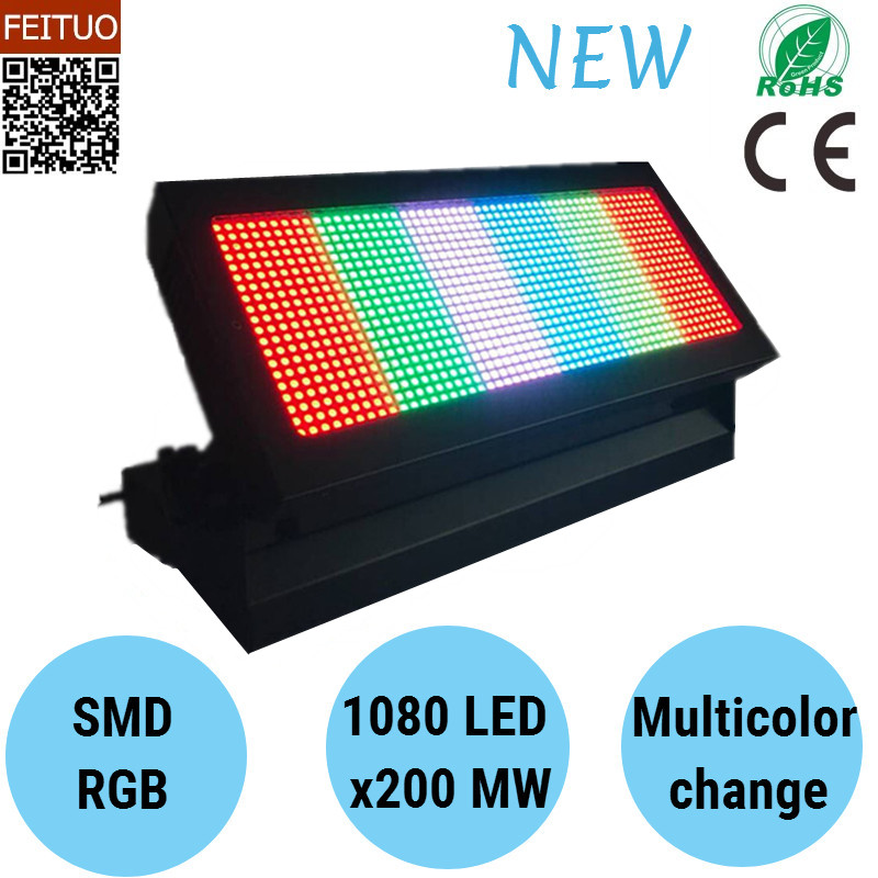 New Product LED 1080X200 MW RGB Strobe Light with Stand DJ Disco Stroboscope Lights Stage Equipment Lighitng
