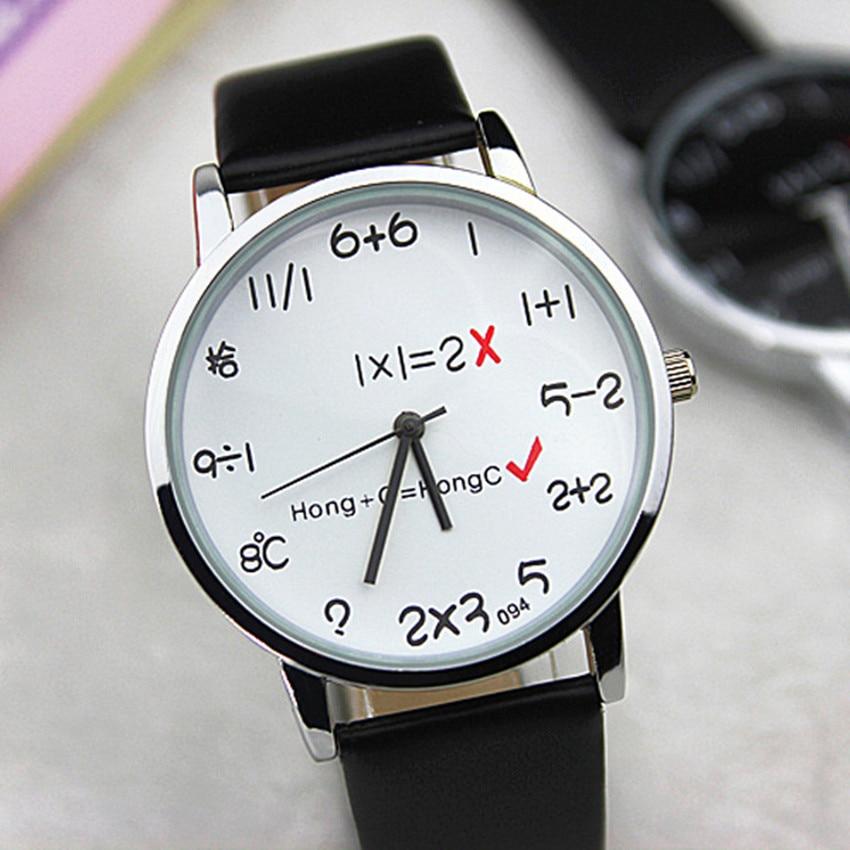 Creative Math Geneva Cartoon Watch Children's Watches Leather Strap Bracelet Kids Quartz Watches Cartoon-watch Girl Boy Clock