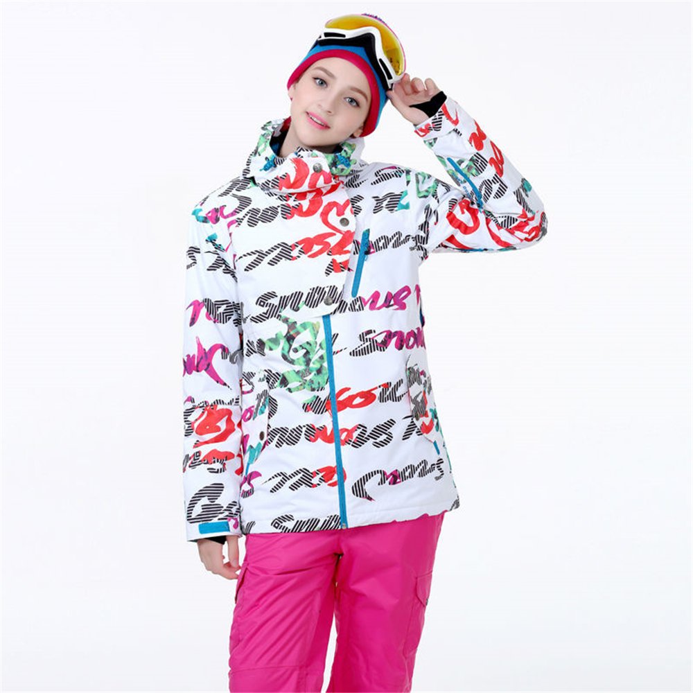 Womens snow jacket colorful jacket windproof waterproof snow ski jacket warm thick jacke ...