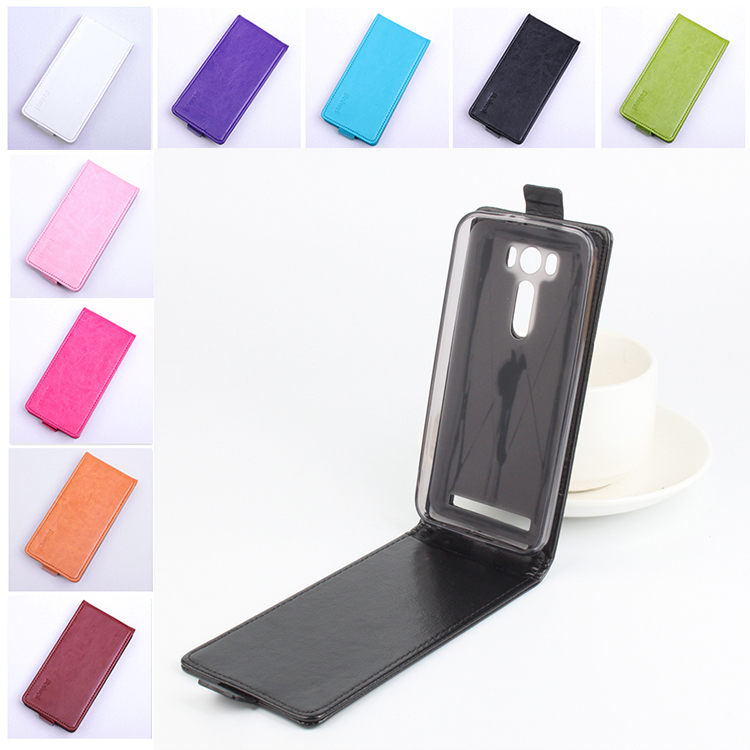 Baiwei brand fashion 9 colors pu leather case for Asus Zenfone 2 Laser ZE500KL flip cover case 5.0 inch protective shell