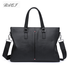 купить BAQI Brand Men Briefcase Bag Men HandBags Genuine Cow Leather 2019 Fashion Computer Business Bag Men Shoulder bags Messenger Bag по цене 3282.61 рублей