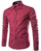 2017 Spring New Style Mens Shirt Long Sleeve British Dress Shirt Men Business Man Casual Shirts