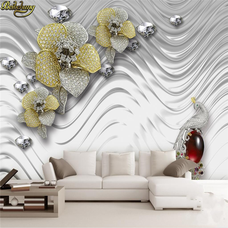 Home Improvement Beibehang Non Woven Wallpaper Living Room Warm Bedroom Wallpaper Full Of Sofa Tv Background Wall Paper Diamonds Papel De Pared Good Taste Painting Supplies & Wall Treatments