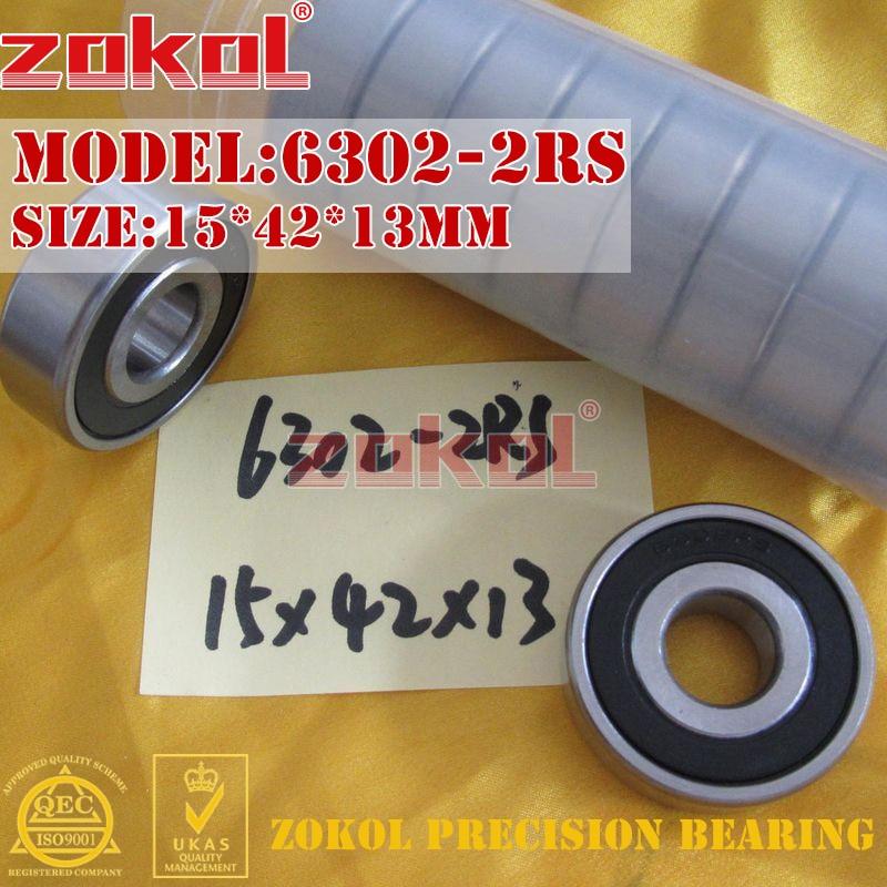 ZOKOL 6302 ZZ RS Z1 Bearing 6302 2RS 6302zz 6302-2RS Deep Groove Ball Bearing 15*42*13mm