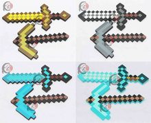 4d0fce2469b Minecraft juguetes de espuma Minecraft diamante espada pico hacha pala arma  EVA juguetes de regalo para