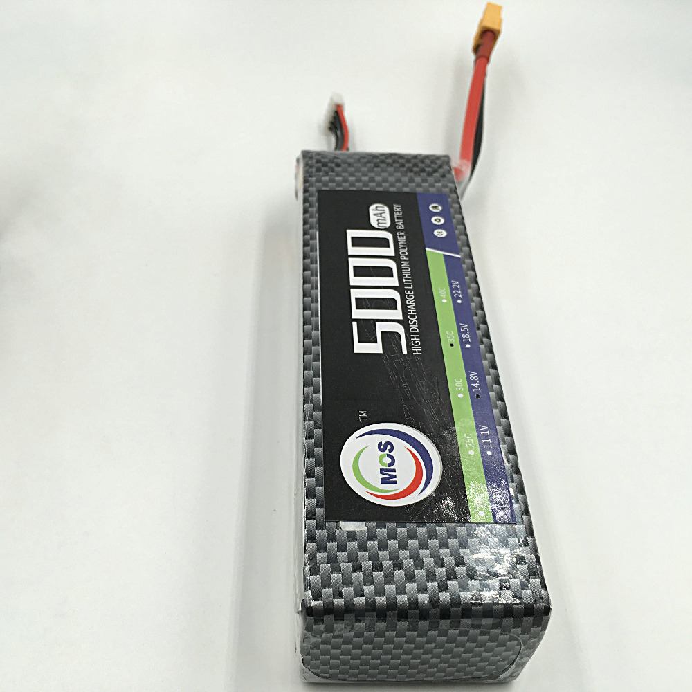 MOS 6S 22.2v 5000mah 40c lipo battery for rc airplane free shipping 2pcs package mos 3s lipo battery 11 1v 1300mah 35c for rc airplane free shipping