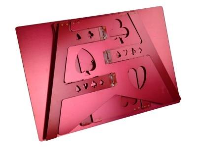 Tableau pliant magique en alliage d'aluminium-couleur rouge tours de magie magicien meilleur accessoire d'illusions de scène de Table facile à transporter - 5