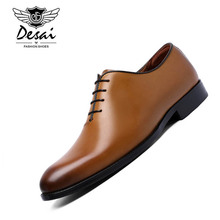 DESAI 2018 New Men Business Formal Dress Shoes With Comfortable Cow Leather Shoes Classic Retro British Style Shoes for Men