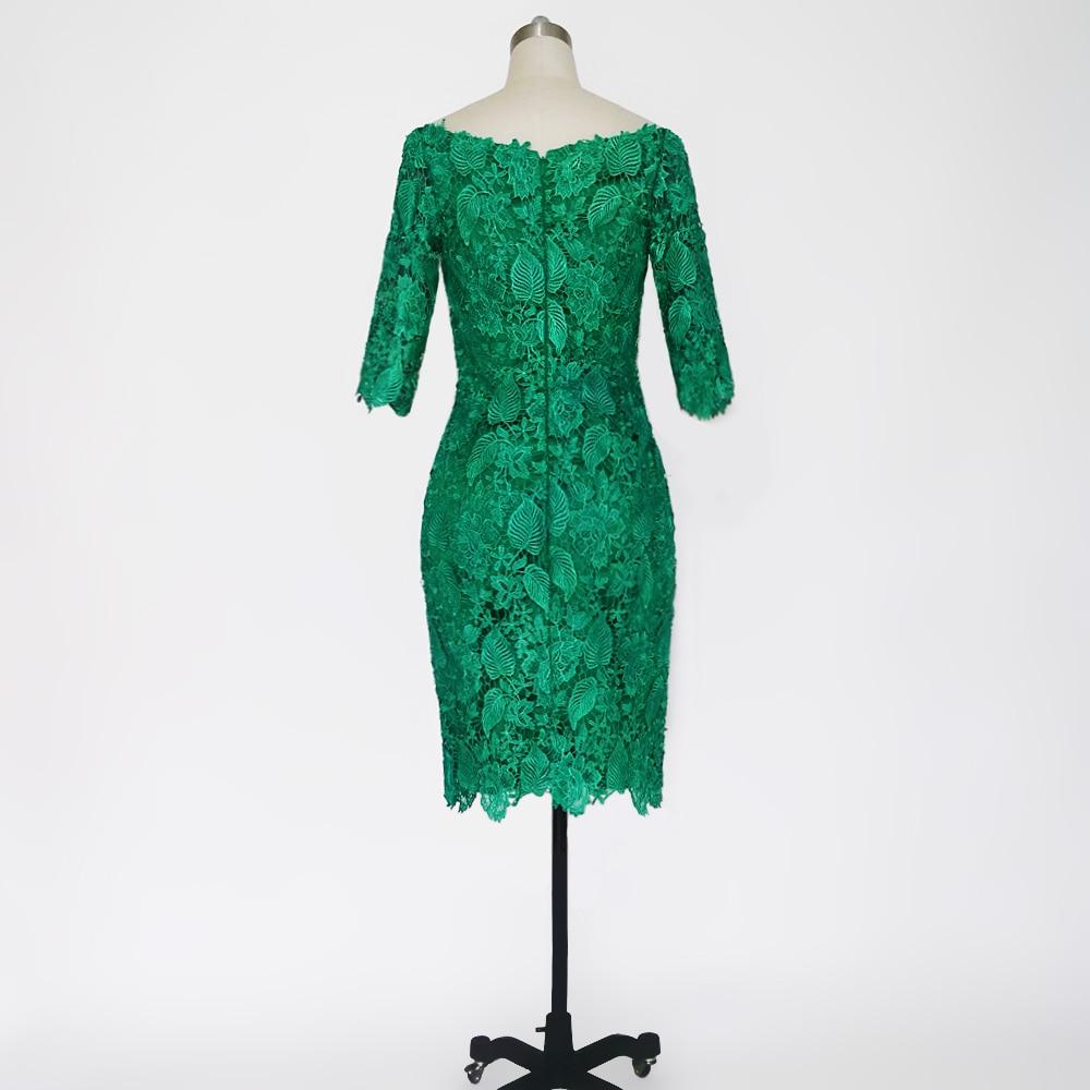 E JUE SHUNG Grønn Lace Off Shoulder Short Evening Dresses 3/4 - Spesielle anledninger kjoler - Bilde 2