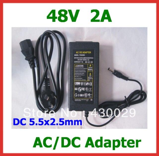 Высокое качество 48 В 2A 96 Вт адаптер питания DC 5,5x2,5 мм AU US EU вилка переменного тока стандарта Великобритании кабель