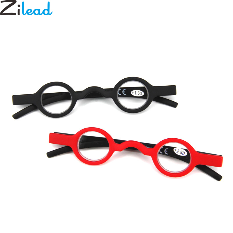Zilead Retro Round Small Frame Reading Glasses Ultralight Clear Lens Presbyopic Glasses Eyewear Frame Unisex For Elder Gifts
