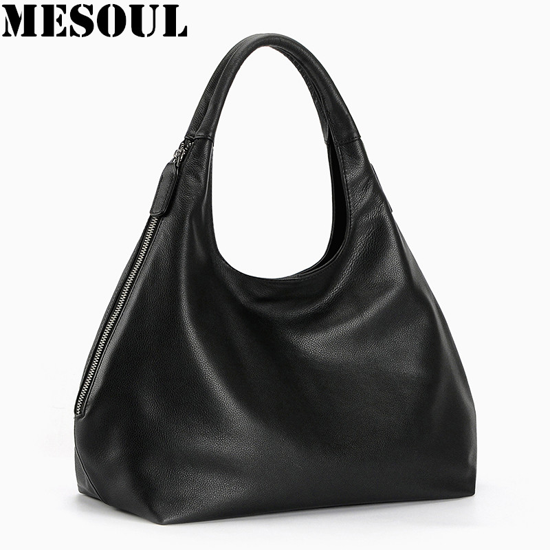 100 Genuine leather hobo font b bags b font for font b Women b font Shoulder