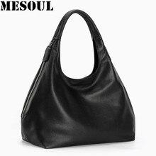 100% del cuero Genuino del hobo bolsas para Mujeres Bolsa de Hombro Bolso Crossbody Bolsos de Diseño de Alta Calidad Femenina de Lujo de asa superior bolsas