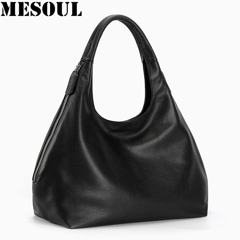 d8f62d8d19bbe 100% cuero genuino hobo bolsas para mujeres bolsos del diseñador del bolso  de hombro femenino de Crossbody de la alta calidad lujo top-handle bolsas