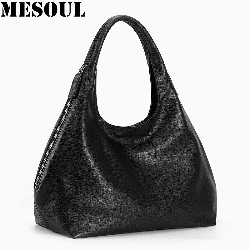 100% sacs hobo en cuir véritable pour femmes sac à bandoulière Designer sacs à main de haute qualité femme sac à bandoulière de luxe sacs à poignée supérieure-in Sacs à bandoulière from Baggages et sacs    1