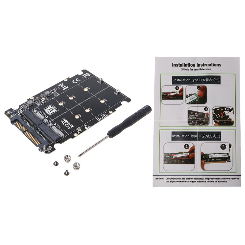 2 in1 M.2 NVMe SATA-Bus NGFF SSD to PCI-e U.2 SFF-8639 Adapter PCIe M2 Converter