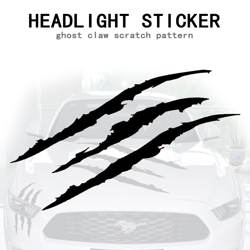 Image 2 - Universal Auto Headlight Claw Stripe car Sticker for BMW E46 E60 Ford focus 2 Kuga Mazda 3 cx 5 VW Polo Golf 4 5 6 Jetta Passat-in Car Tax Disc Holders from Automobiles & Motorcycles