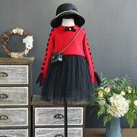 5350 Prenses 2 Adet Çocuk Giyim Seti Kazak Üst + elbise Bebek Kız çocuk Giyim toptan bebek çocuk butik giyim sürü