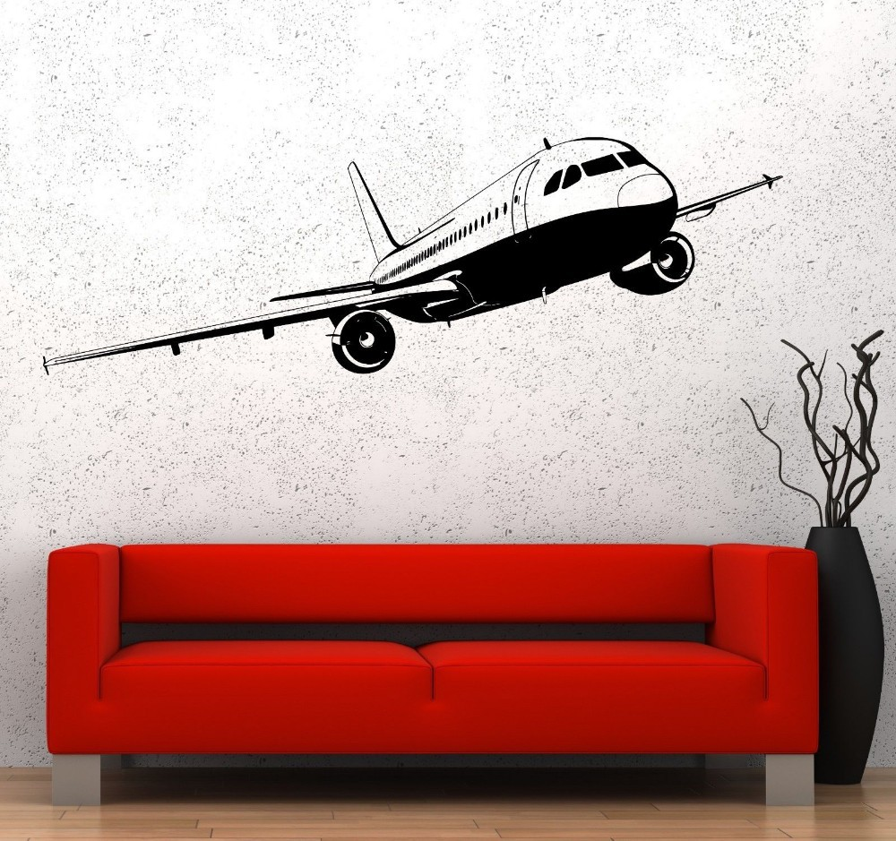 Free Shipping Ariplane Sticker Aircraft Decal Posters ...