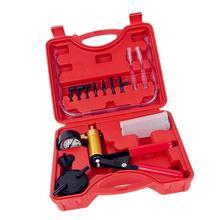 Dragonpad 2 in 1 Car Manual Vacuum Pump Brake Bleeder Kit Oil Detector