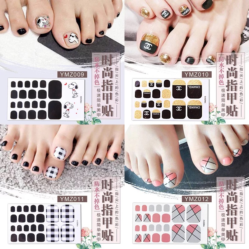 Explosion models shaking nails toenail stickers nail stickers waterproof 3d nails full stickers 01 39 pegatinas nails art in Stickers Decals from Beauty Health