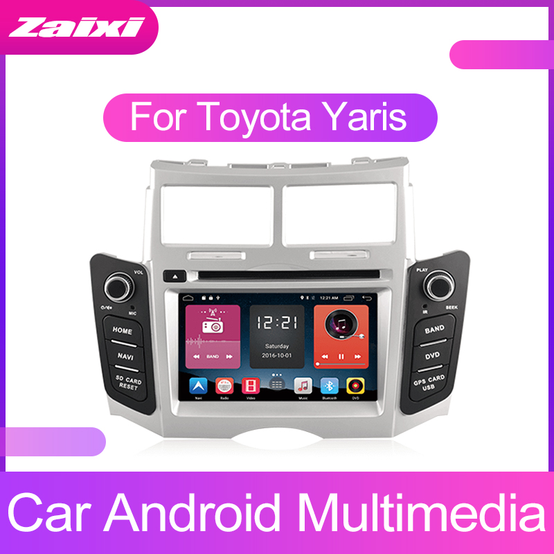 ZaiXi 2 DIN Android Touchscreen For Toyota Yaris 2005 2011 Car Multimedia Player Bluetooth GPS WiFi Navigator FM Radio Player in Car Multimedia Player from Automobiles Motorcycles