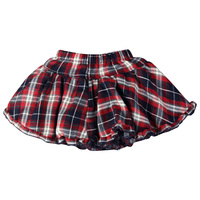Girl S Mini Party Jeans Tutu Skirts Children Kids Baby Plaid Four Layer Pleated Festival Gift