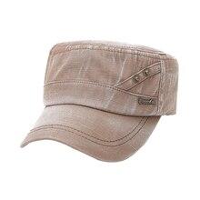 Sombreros militares de verano, Top plano, gorras Vintage lavadas de marinero, gorra ajustable clásica para mujer, gorro grueso entallado, gorra militar de algodón 5939