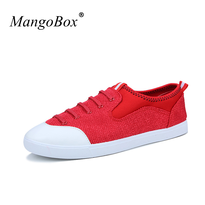 Low Price Fashion Shoes for Male Comfortable Men Flat Casual Shoes Black Red Canvas Shoes Mens White Bottom Sneakers Casual