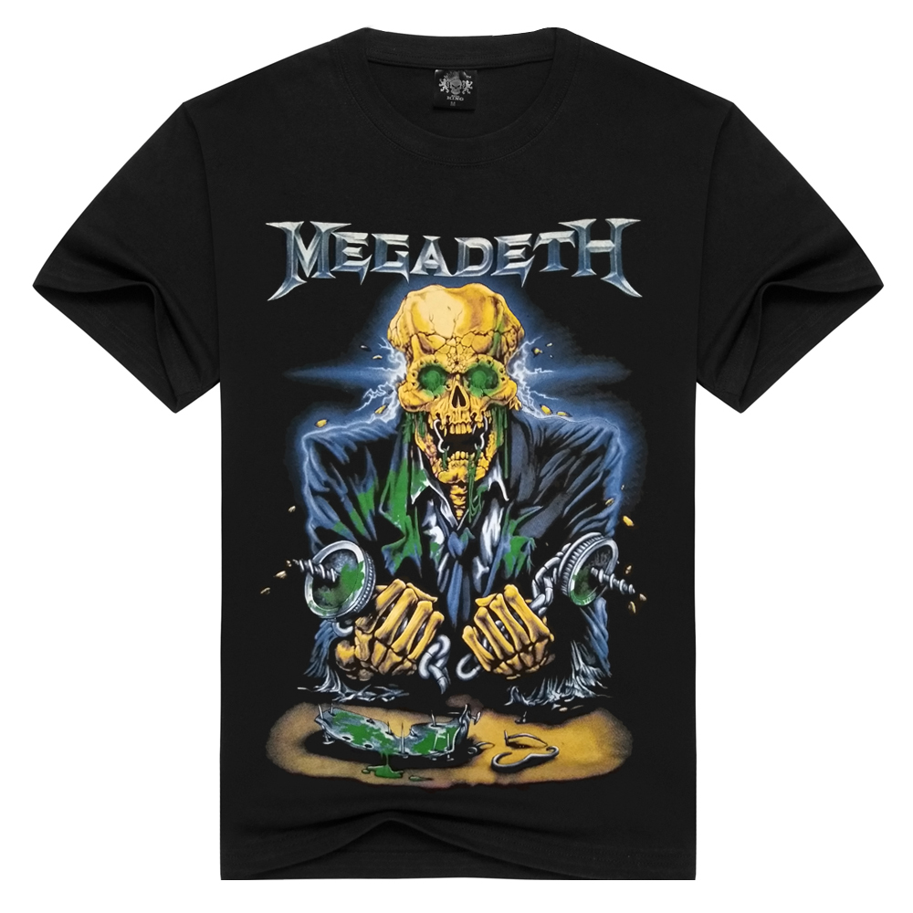 3D Megadeth T-shirts Men/Women Summer Tops Tees Print Animal T Shirt Men O-neck Short Sleeve Fashion Tshirts Plus Size
