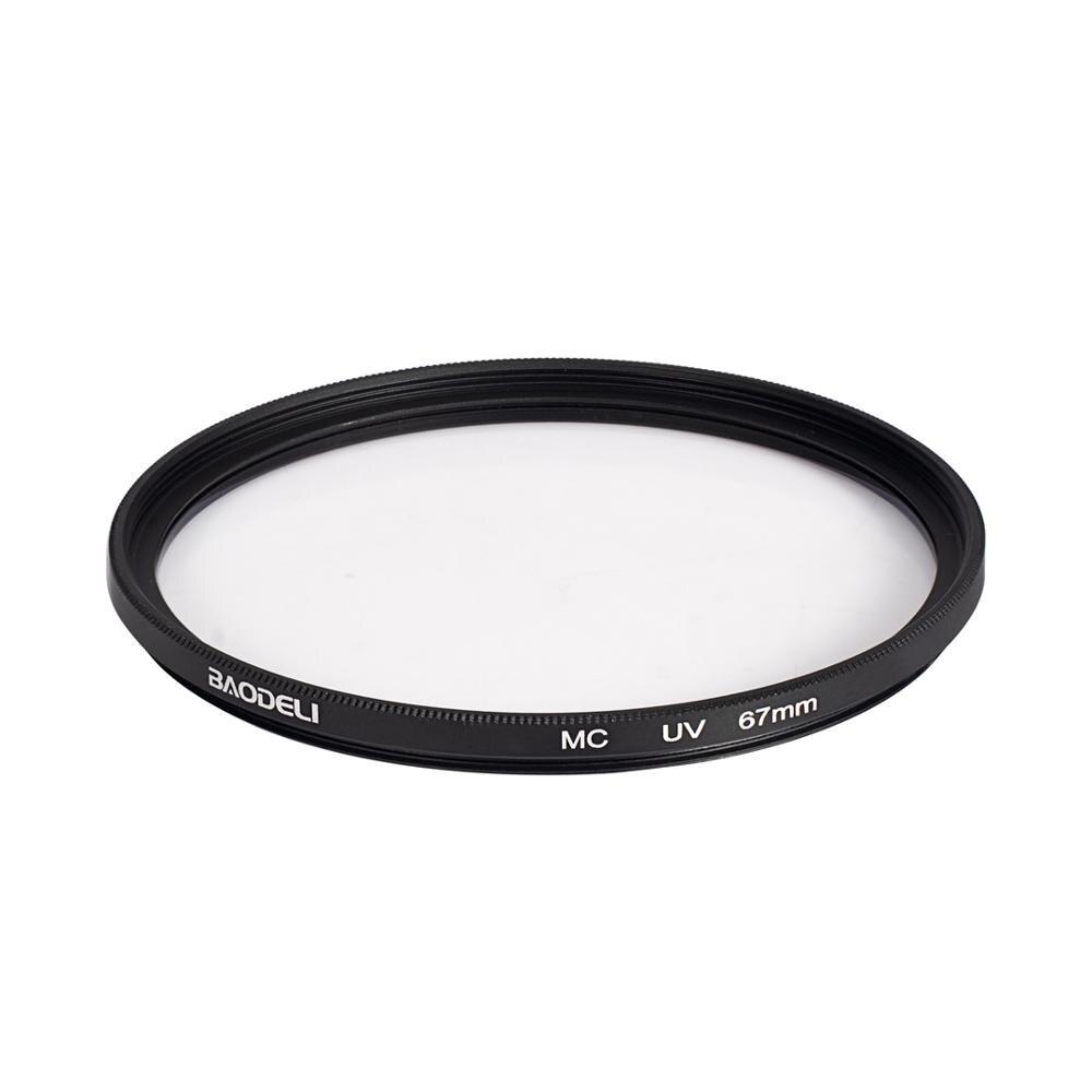 72 BAODELI Dslr Filtro MCUV Lens Filter 37 40.5 43 46 49mm 52 55 58mm 62 72 77mm 82 mm For Nikon D3500 Camera Canon M50 Sony A6000 (2)