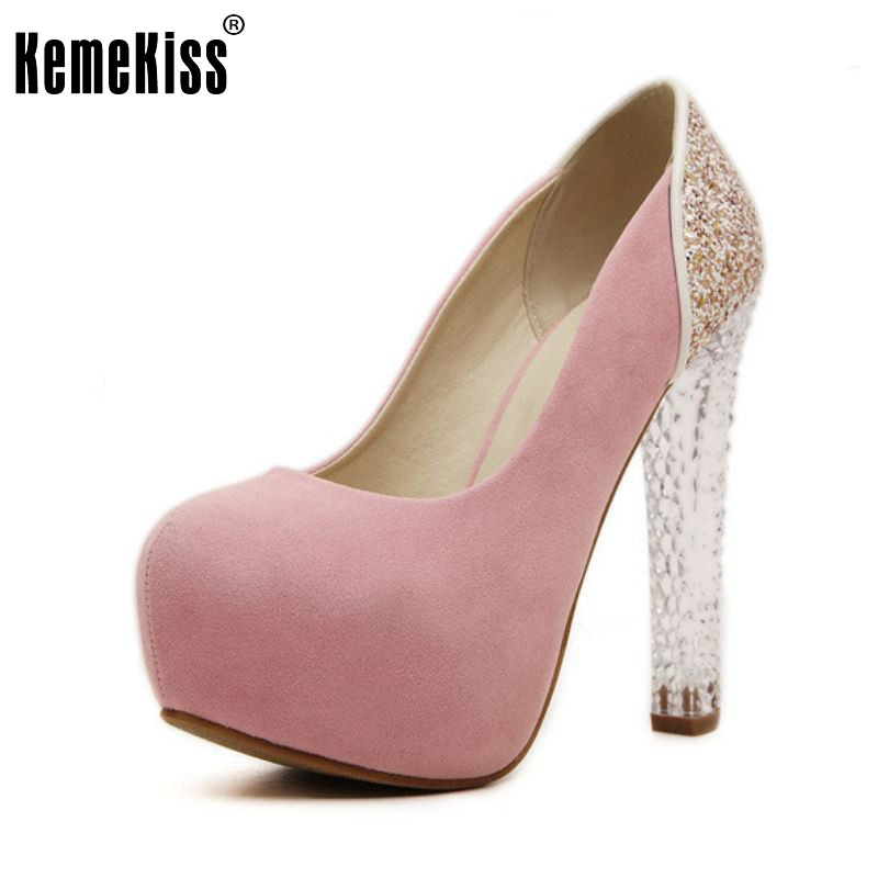 Womens Wedding Shoes 2016 Crystal High Heels Ladies Platform Pumps Fashion Brand Shoes Heeled Female Zapatos Size 35-39 purple platform super high heeled pumps shoes for woman ladies girl purple party dinner shoes ladies crystal pearls shoe tg784