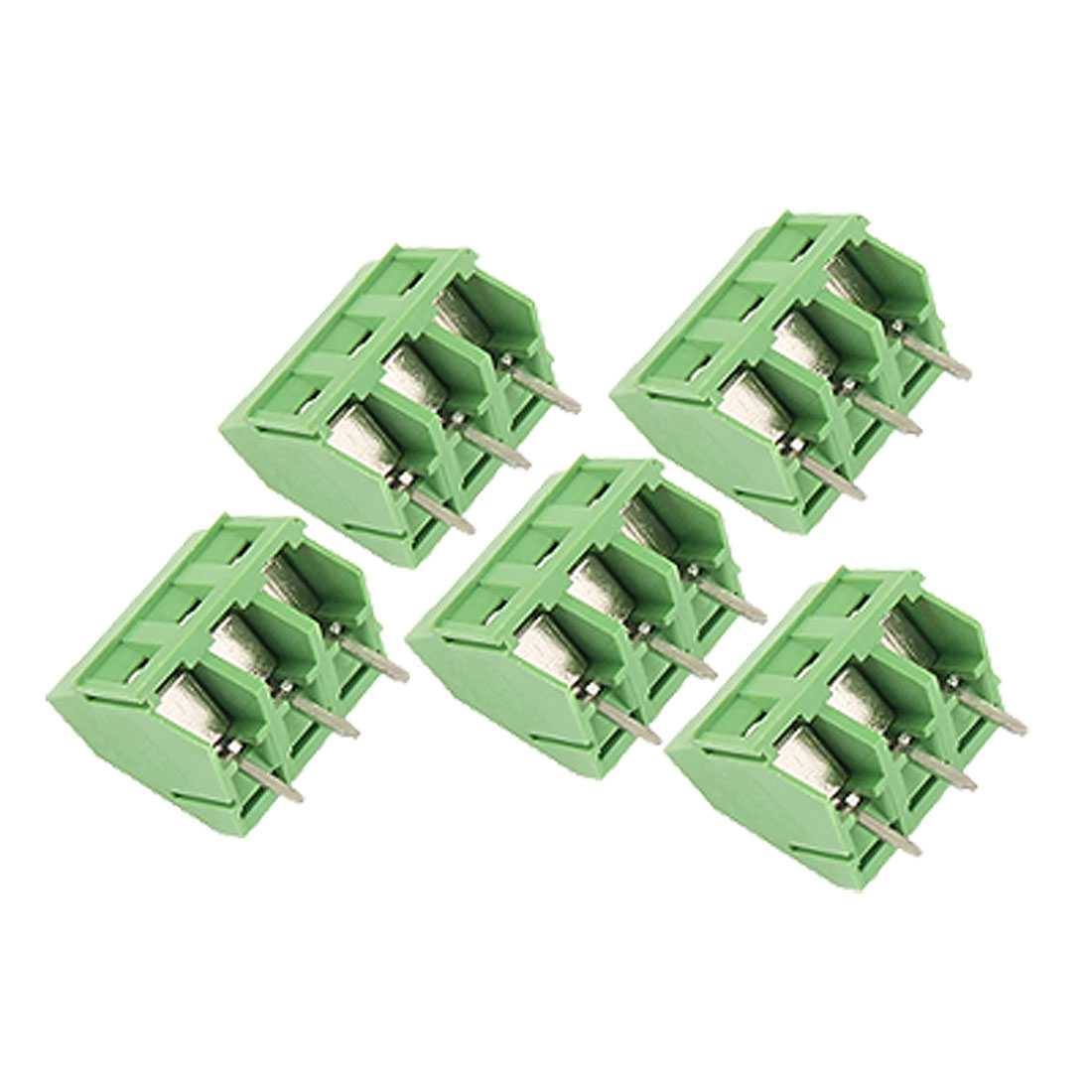UXCELL 5 Pcs 3P 5.08Mm Pitch Pcb Screw Terminal Block Connector 30A