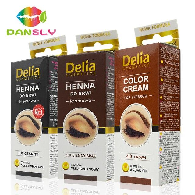 Pansly Delia henna eyebrows cream makeup eyebrow dye tint brows gel ...