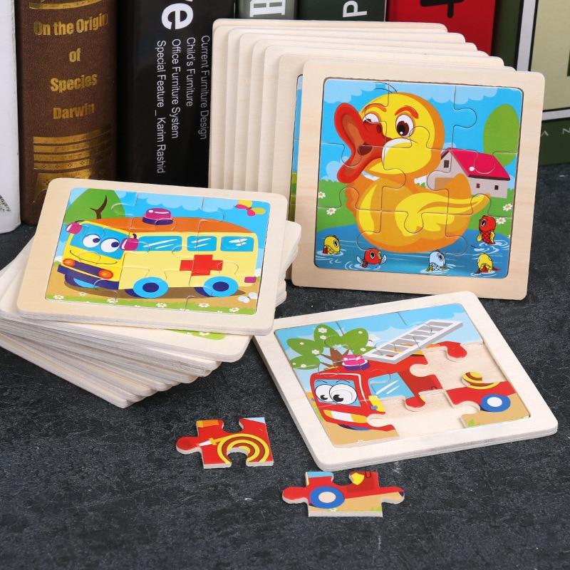 Wooden Children's Toy Cartoon Car / Marine Animal Puzzle / Marine Animal Puzzle 2-6 Years Old Educational Toys