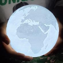 Rambery Moon lamp 3d print earth moon light Recharg night light LED light 2colors touch home Decor Creative gift