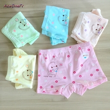 1pc high quality Kid's shorts cotton Cartoon cat print underwear for baby  girls M-XL 3-8 Years little girl elastic panties  704