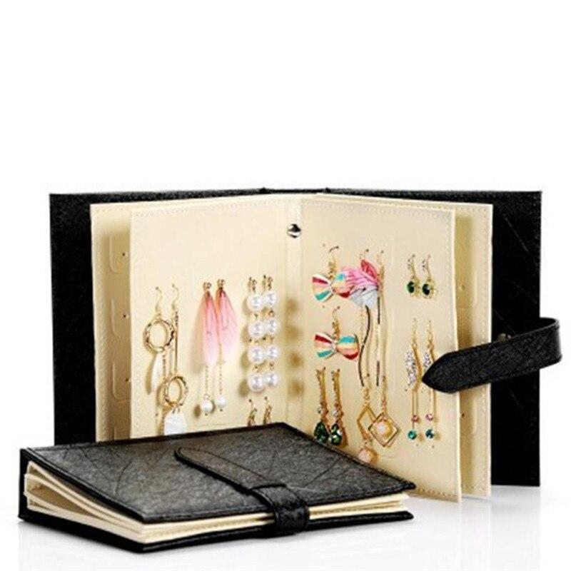 Ювелирные изделия стеллаж для хранения модные женские туфли серьги коллекции книга кожаный серьги хранения ювелирных изделий серьги орган...