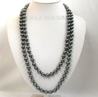 women gift gold plated word Jewelry AAA round black multi color seashell pearls necklace 50 Factory Wholesale price