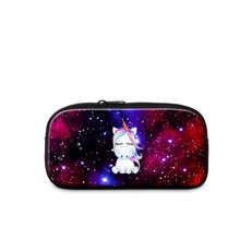 Dispalang Print Unicorn Pattern Amazing Clarity Polyester Fabric Casual Cosmetic Cases for Women Beautiful Clutch on Makeup Girl