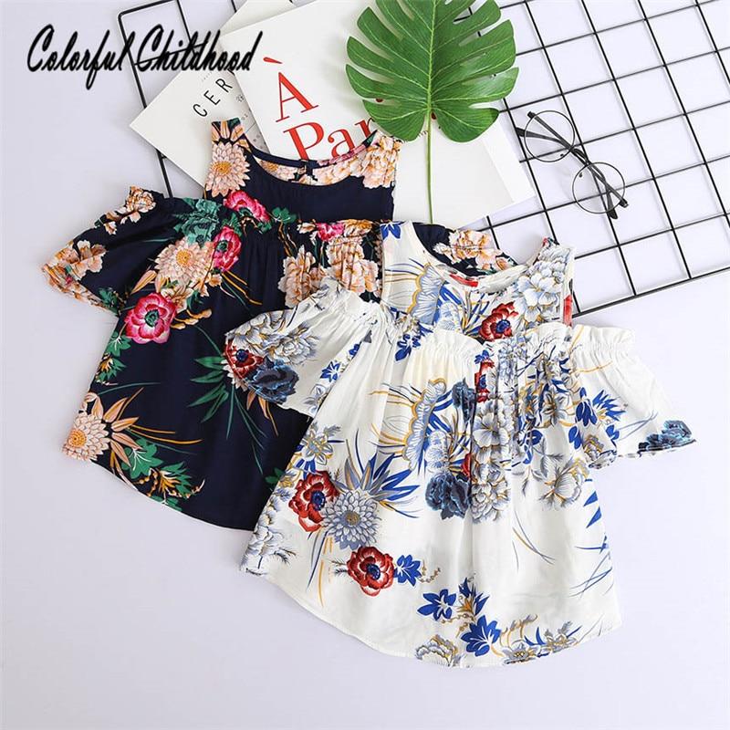 Aliexpress Com Buy Vintage Flower Printing Kids Shirt