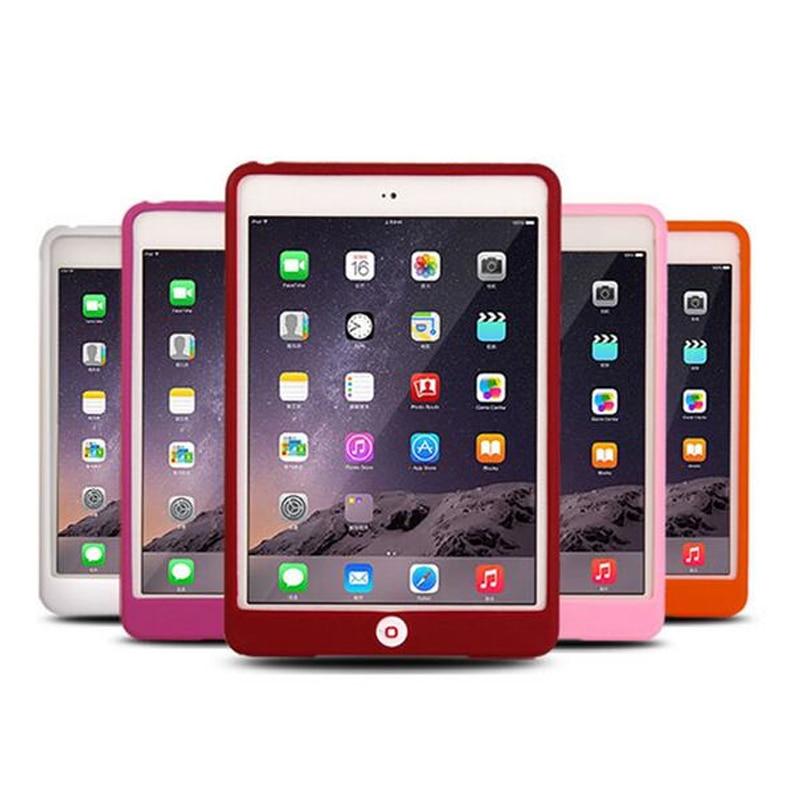 Candy Colors Soft Silicone Cover For Ipad mini 4 Rubble Case Protector Bag Capa For Ipad mini4 Back Para Fundas Free Shipping