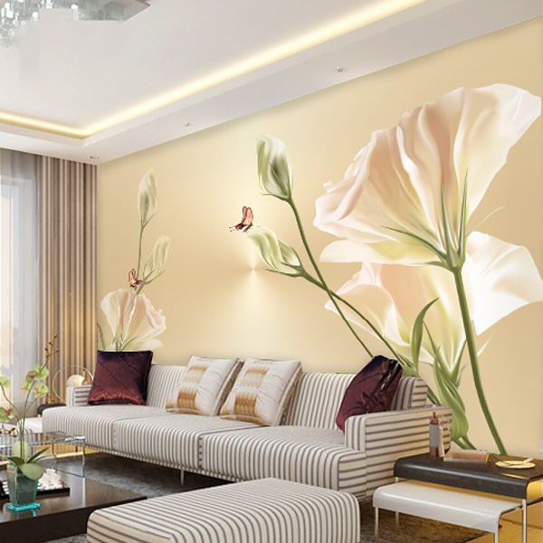 Custom Size Photo living room sofa TV background wall 3D stereo speakers individuality tulip bedroom Wallpaper mural